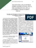 Eg07. La Incorporacion de La Plataforma Moodle Al Diseño Instruccional de La Asignatua Matematica