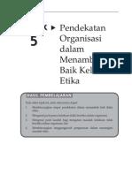 OUMM3203 Topik 5 Pendekatan Organisasi Dalam Menambah Baik Kelakuan Etika