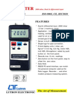 Digital Manometer PM 9100HA (Lutron) (1)