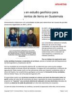 Estudio Geofisico Hundimientos Tierra Guatemala