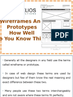 Wireframes and Prototypes- How well do you Know this?