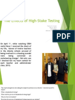 the effects of high-stake testing