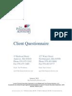 TFA LLC Client Questionnaire Form 2013_01