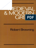 268780037 Robert Browning Medieval and Modern Greek 1983