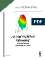 CST ApplicationNote HowToUseTemplateBasedPostProcessing