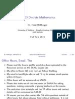 Discrete Mathematics Lecture Slides