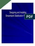 designing& installing streambank stabilization practices