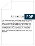 Railway Ticket Reservation