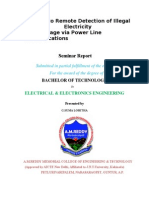 A Solution to Remote Detection of Illegal Electricity Usage via Power Line Communications