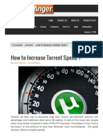How to Increase Torrent Speed