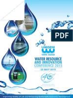 UW Water Resources and Innovation Conference 2015