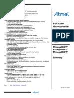 Atmel 8011 8 Bit AVR Microcontroller ATmega164P 324P 644P Summary