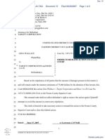 Wallace v. Target Corporation - Document No. 15
