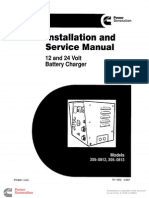 901-0602 Onan 12 & 24 Volt Battery Charger 305-0812 305-0813 Installation & Service Manual (05-2001)