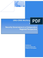 Security Governance in a Comparative Regional Perspective
