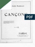 """""""Quatre Cançons Catalanes"""" de Josep Sancho Marraco Veu Pno"""