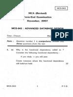 MCS-043 DEC 2007