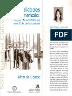 Teatralidades de La Memoria. María Alicia Del Campo