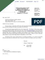 BULLOCK v. MENU FOODS INC. et al - Document No. 7