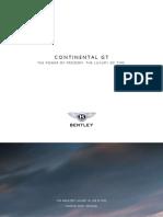 Bentley Continental GT 2007 Misc Documents-Brochure