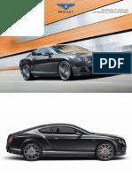 Bentley Continental 2014 Misc Documents-Brochure