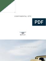Bentley Continental GTC 2008 Misc Documents-Brochure