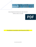 Vocabulario Controlado Sobre Desastres (VCD)