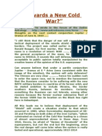 Towards a New Cold War