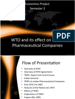 WTO and Its Effect on Indian Pharmaceutical Companies