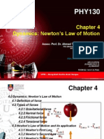 PHY 130 - Chapter 4 - Dynamics -Newton's Law of Motion