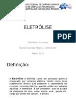 ELETRÓLISE - Quimica Geral