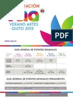 Agenda de eventos VAQ 2015