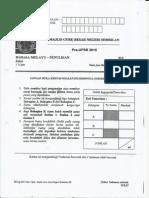 Ujian Percubaan UPSR 2015 - N9 - BM Penulisan