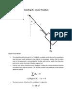 Modeling of a Simple Pendulum