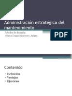 Administración Estratégica Del Mantenimiento(Árboles de Decsión)