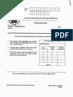 Ujian Percubaan UPSR 2015 - N9 - Sains Bahagian B