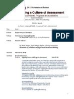 Forum Agenda - Detailed Version