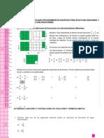 Adiciones y Sustracciones de Fracciones y Números Mixtos