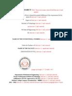 Miniproject Format