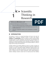 Topic 1 Scientific Thinking in Research