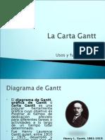 La Carta Gantt Powert Point