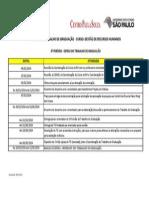 Agenda de Trabalho RH - 6º Período - 01.2014
