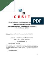 Fichamento 1 - A Industrialização Brasileira