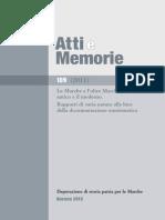 La diffusione del bolognino nell'Italia centrale e sua adozione nelle Marche / Michele Chimienti