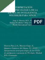 Interpretación Neuropsicológica Del Wisc