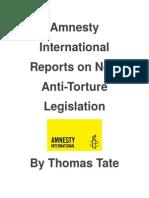 Amnesty International Reports on New Anti-Torture Legislation