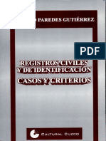 Registro Civiles Casos y Criterios