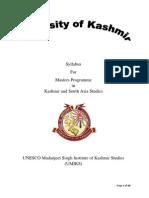 Syllabus Kashmir Studies