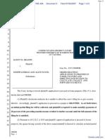 Brandt v. Lehman et al - Document No. 3