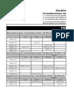 Programación Horarios Area Telecomunicaciones Prim2015
